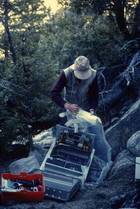 LBS seismometer and Tom Fairbanks